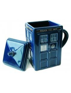 Doctor Who Taza con tapa Tardis