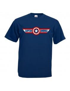 p0384 Escudo Capitán America con Banderola
